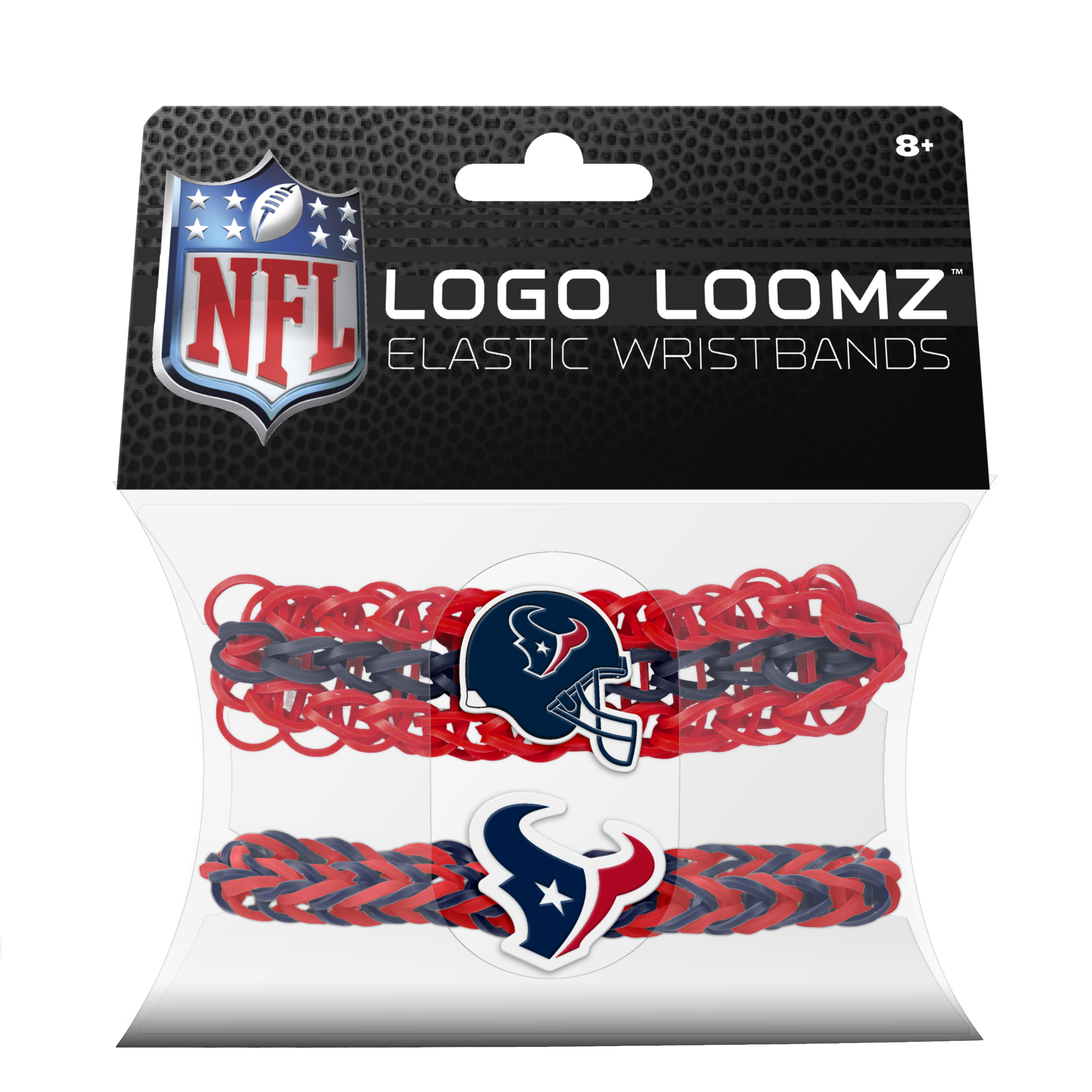 Forever Collectibles Logo Loomz Premade Wristband Houston Texans 2pcs