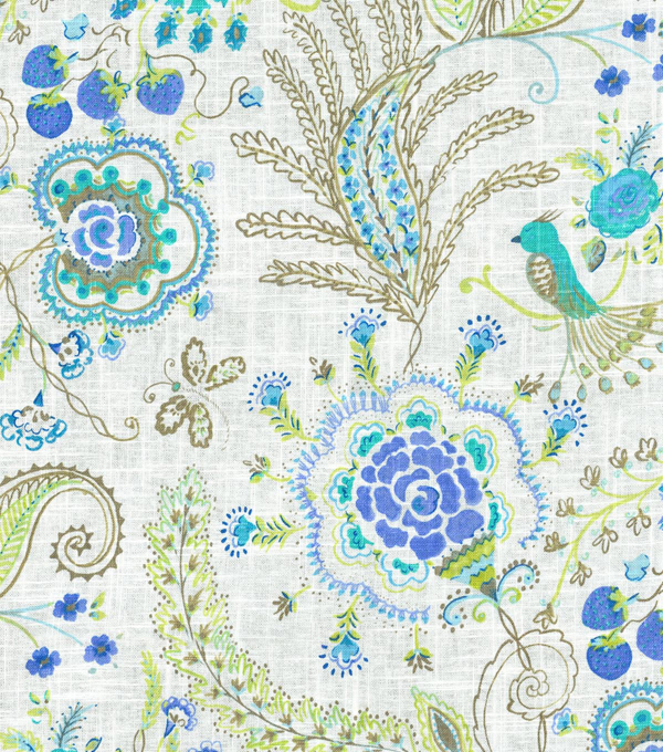 Dena Home Upholstery Fabric 54\u0022-Hidden Charms/Tidepool
