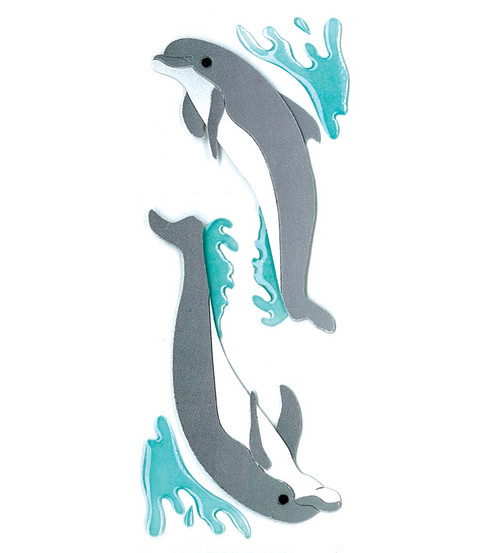 Jolee's By You Dimensional Slim Stickers-Dolphins