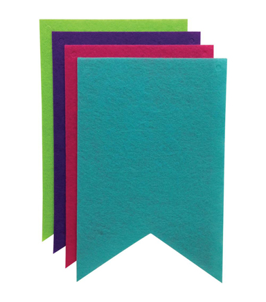Felt Banners 8/Pkg-Fish Tail Brights