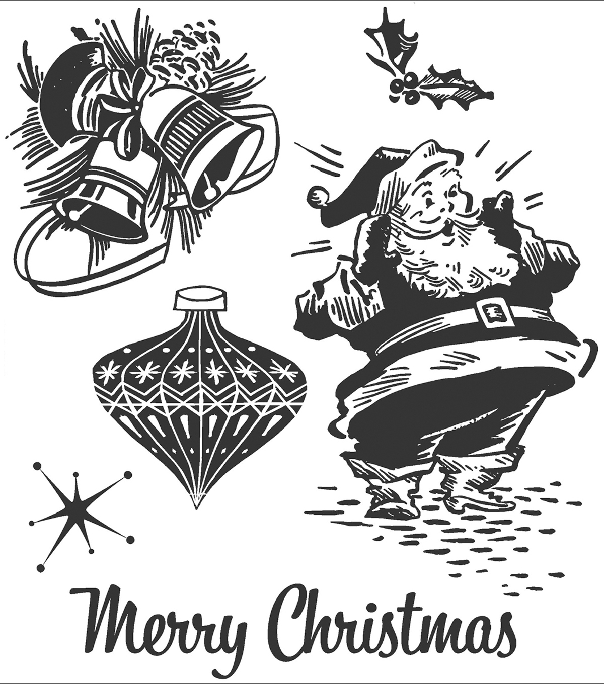 Tim Holtz Cling Rubber Stamp Set-Christmas Memories