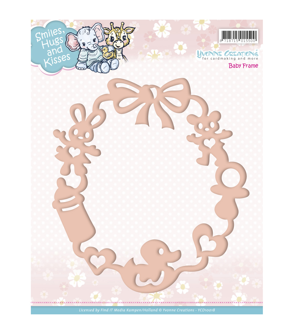 Yvonne Creations Smiles, Hugs & Kisses Die-Baby Frame