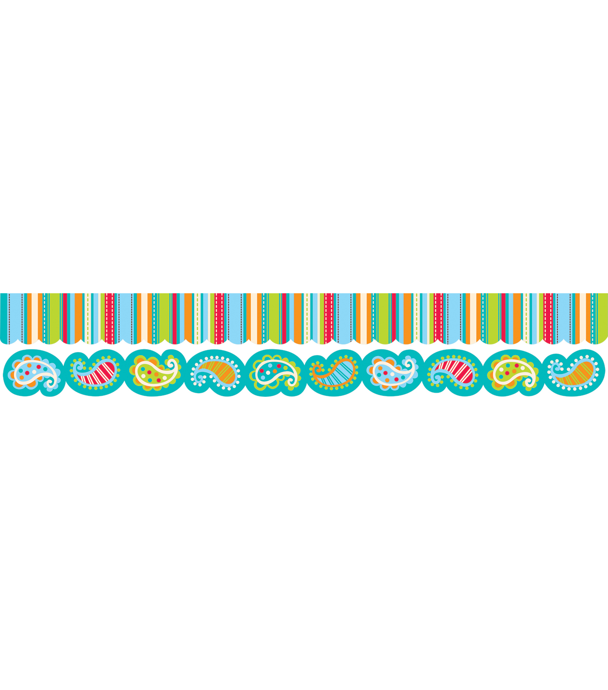 Dots on Turquoise Perfect Pair Border Set