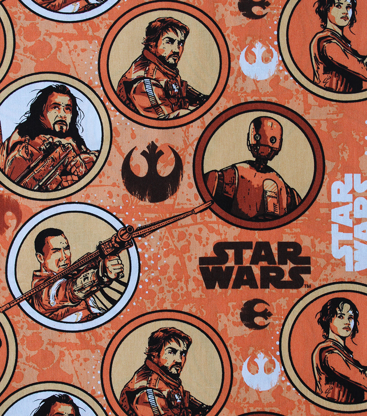 Star Wars™ Rogue One Cotton Fabric 44\u0022-Rebel Circles