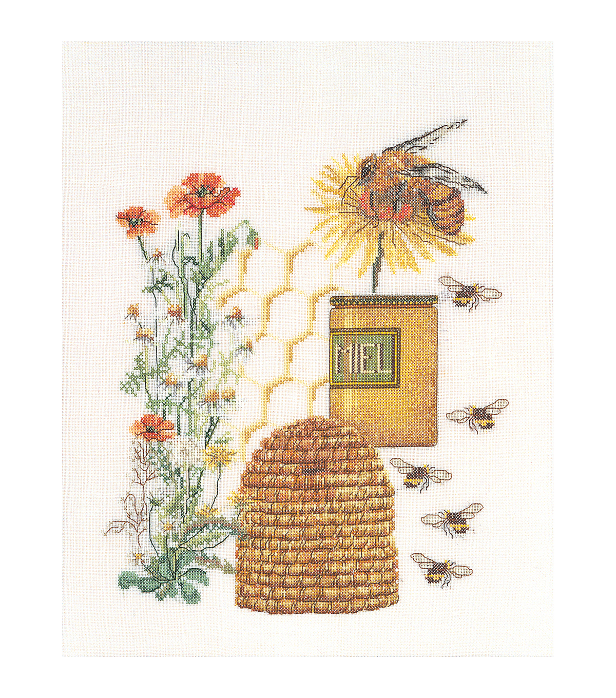 Thea Gouverneur Honey Sampler On Aida Counted Cross Stitch Kit