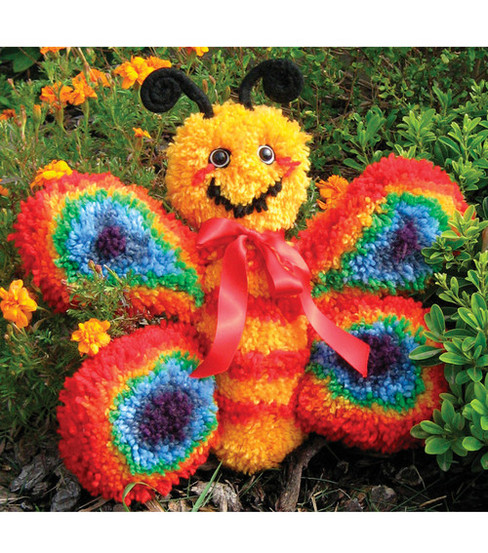 "Huggables 16"" Latch Hook Kit-Butterfly"