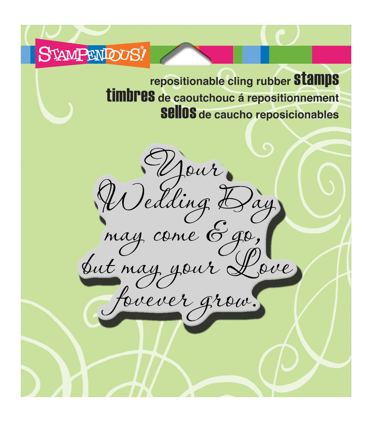 Stampendous Cling Rubber Stamp 3.5\u0022X4\u0022 Sheet-Your Wedding