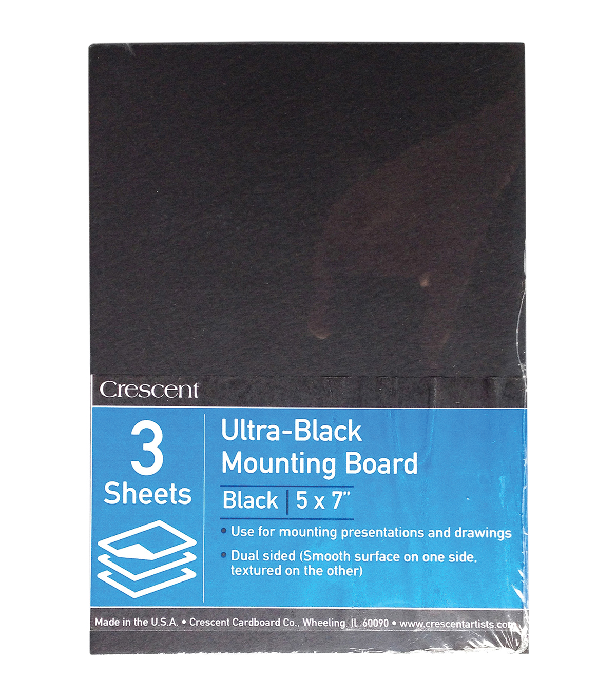 Crescent Ultra-Black Mounting Board Value Pack 5\u0027\u0027x7\u0027\u0027