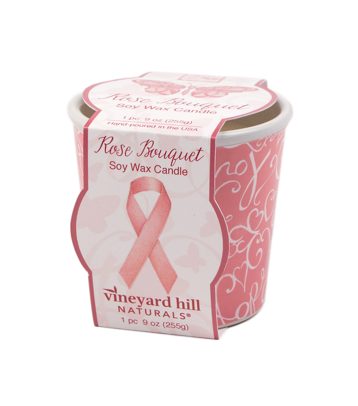 Susan Winget Breast Cancer Decal Ceramic 9 Oz Rose Bouquet