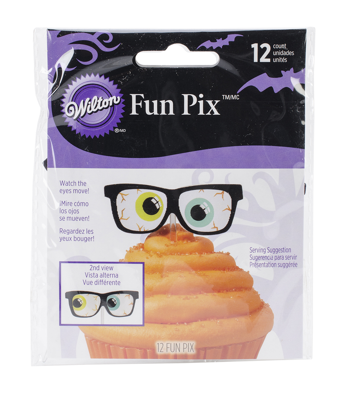 Wilton® Fun Pix-Halloween Eyes 12/Pkg