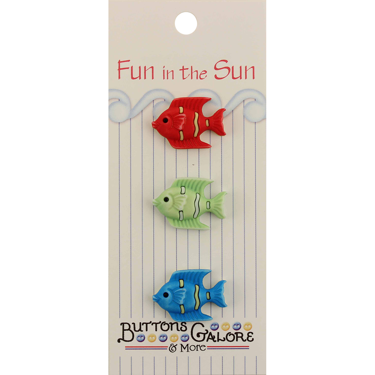 Fun In The Sun Buttons-Tropical Fish