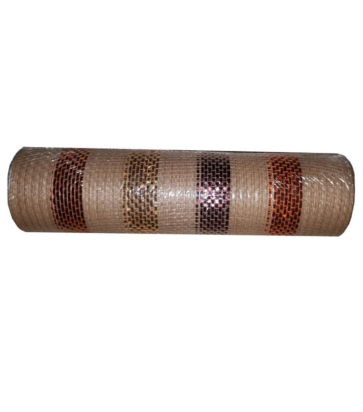 Fall Into Color Mesh Ribbon 10\u0027\u0027x10\u0027-Natural with Stripes