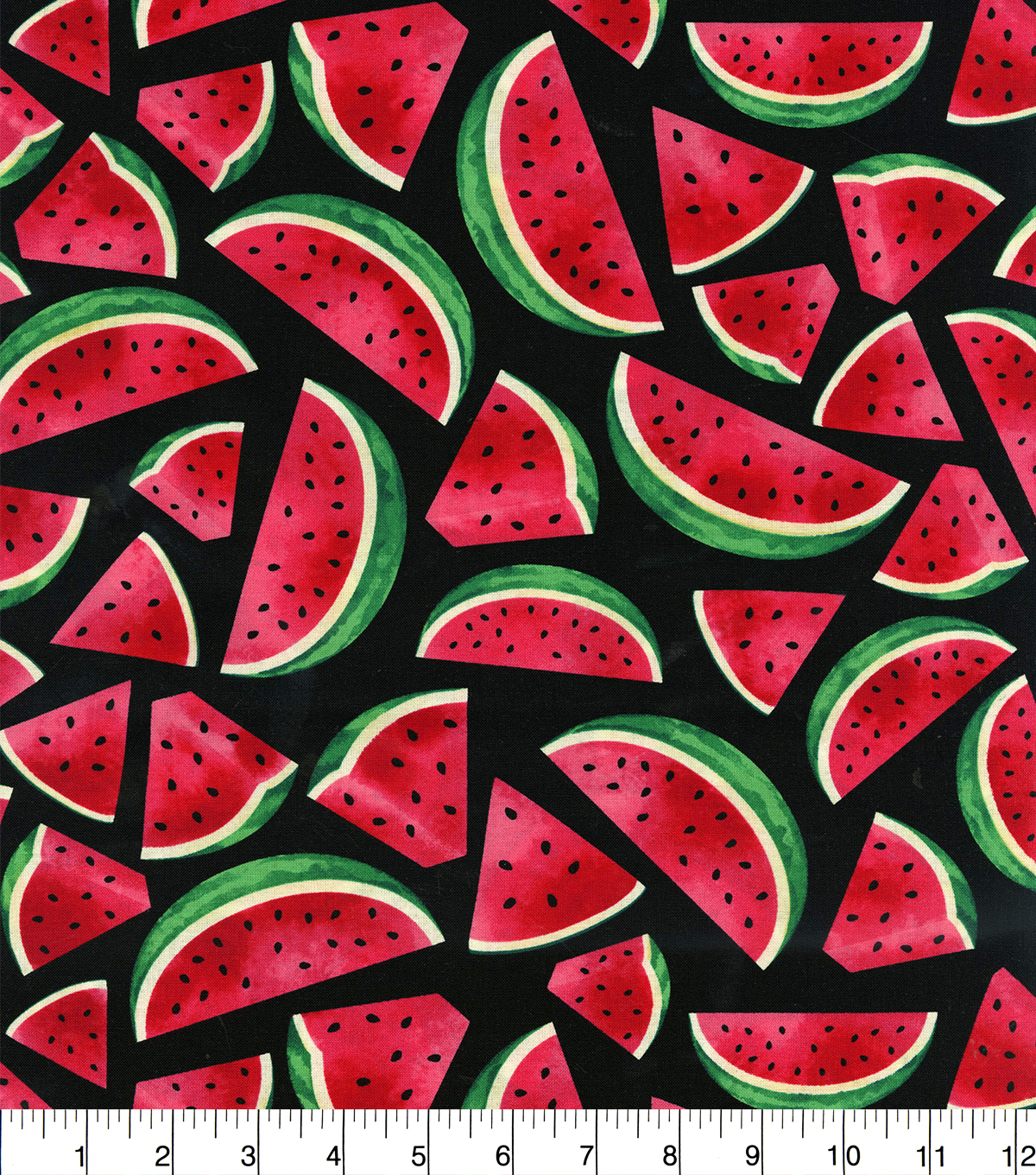 Novelty Cotton Fabric 44\u0022-Watermelon Slices