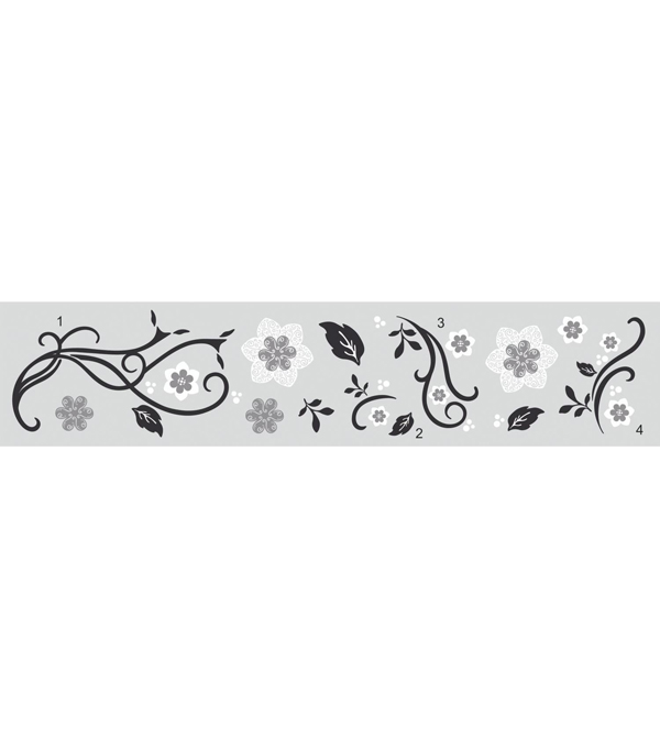 York Wallcoverings Peel & Stick Wall Decals-3D Floral Scroll