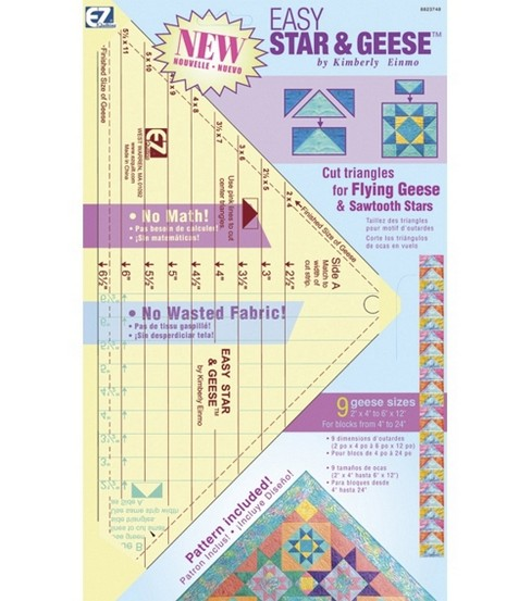 Wrights Easy Star & Geese Quilting Ruler
