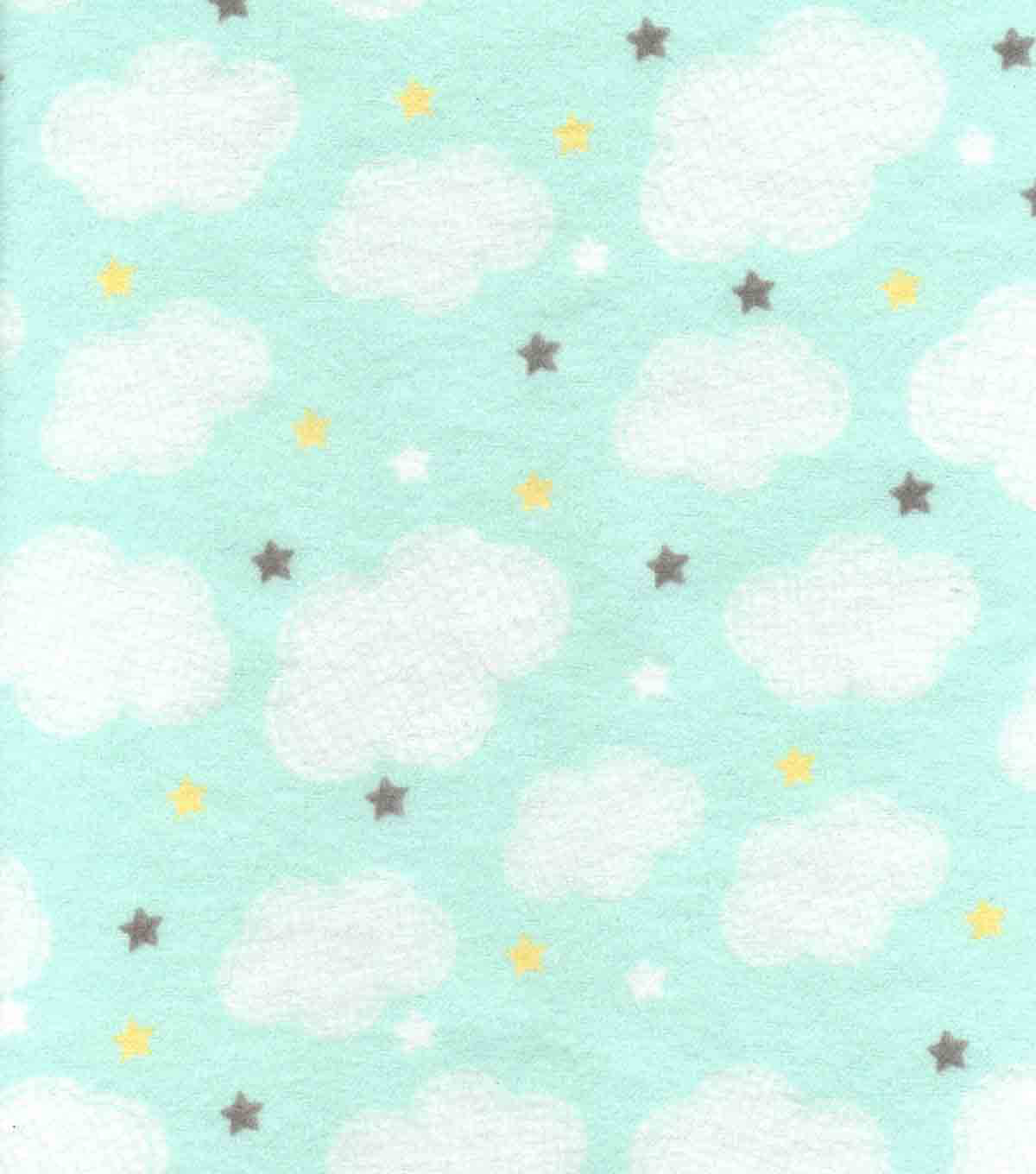 Nursery Flannel Fabric 42''-Adventure Clouds