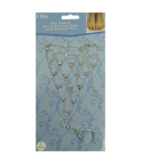 Offray® Set of 2 Foot Jewelry-Silver
