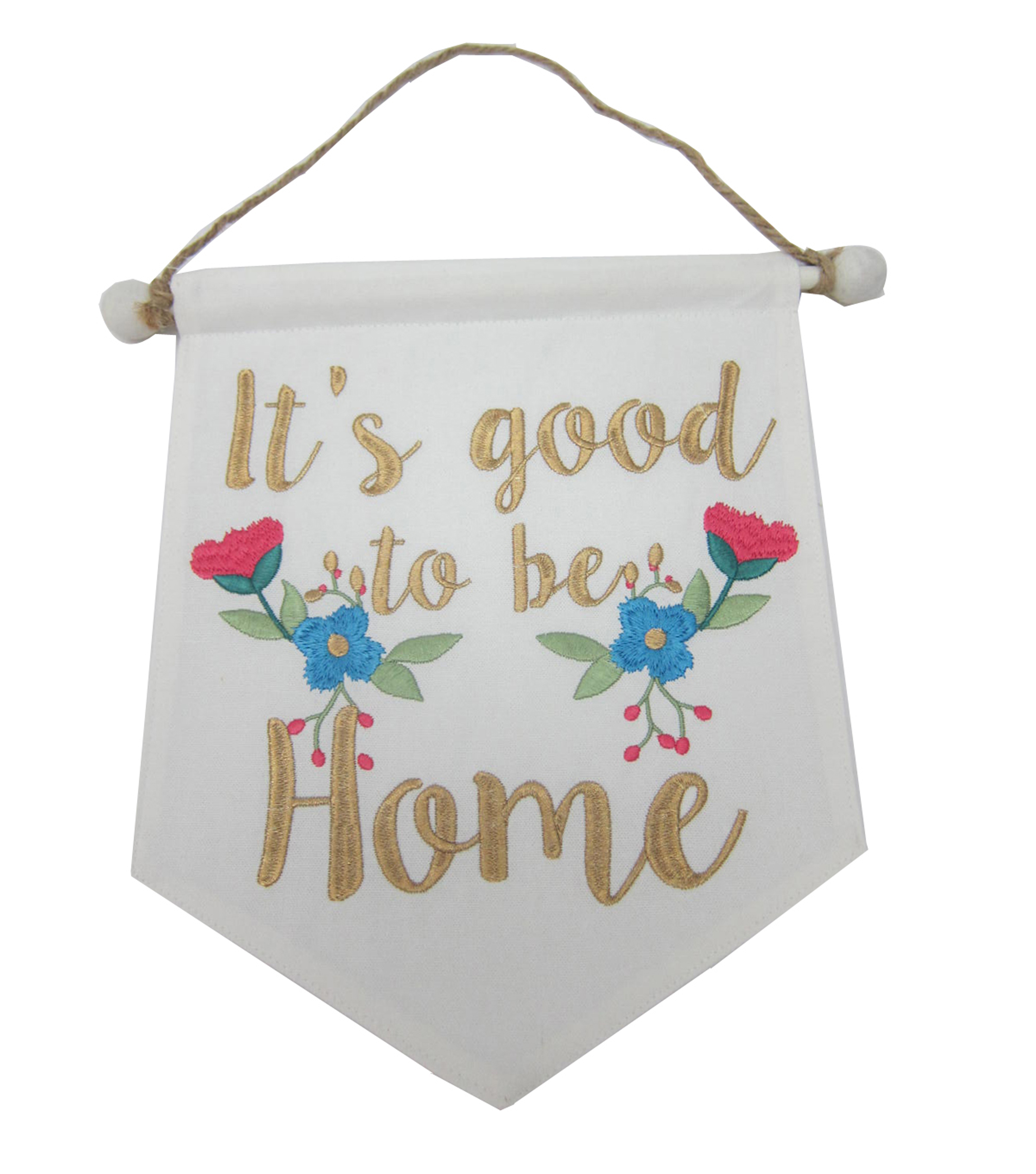 Wild Blooms Mini Banner-It's Good to be Home