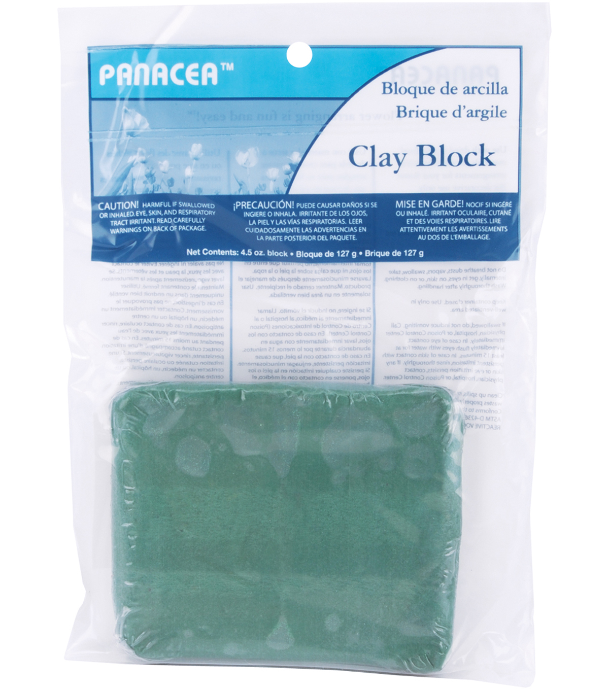 Panacea 4.5 oz. Floral Sticky Clay-1PK/Green