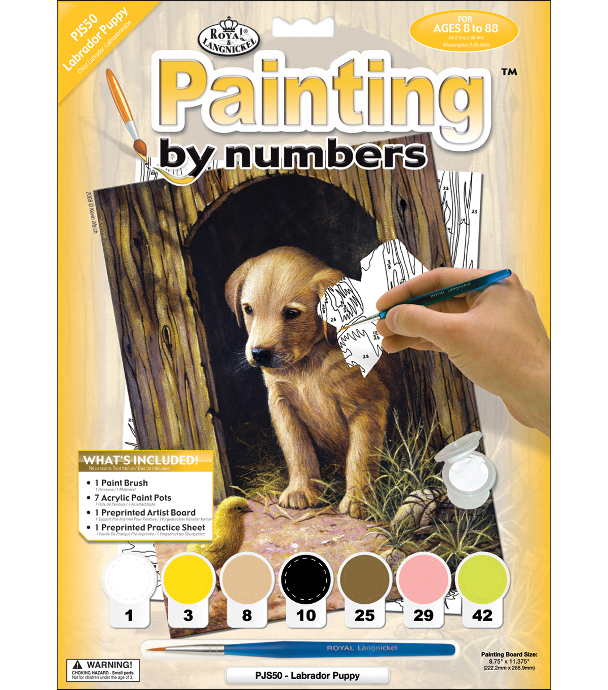 Royal Langnickel Junior Paint By Number Kit Labrador Puppy