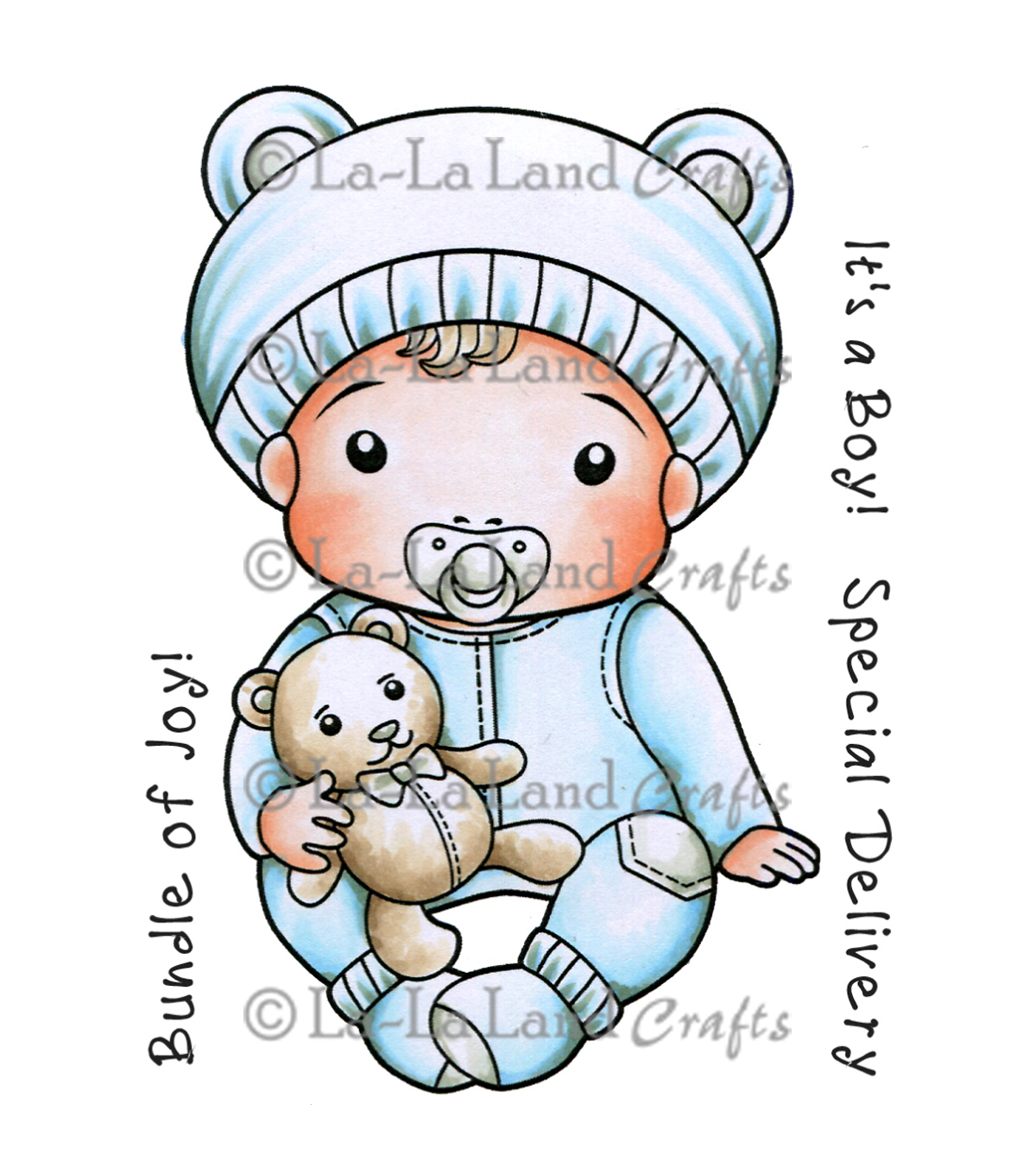La-La Land Crafts Baby Luka Cling Mount Rubber Stamps