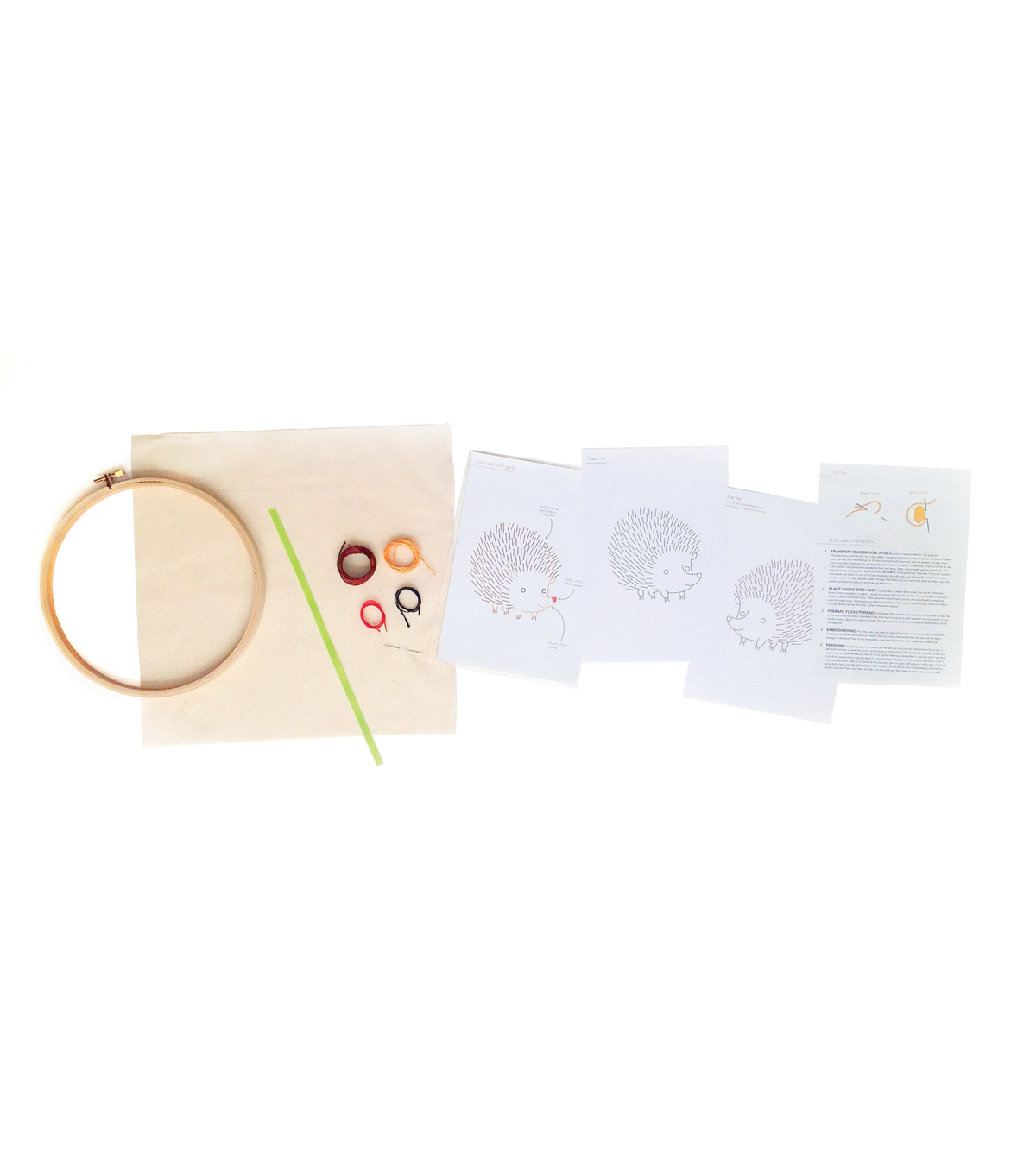 Monkey Hand Embroidery Wall Art Kit