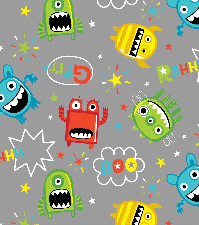 Snuggle Flannel Fabric-Mayhem Monster Tossed | JOANN : quilting flannel fabric - Adamdwight.com