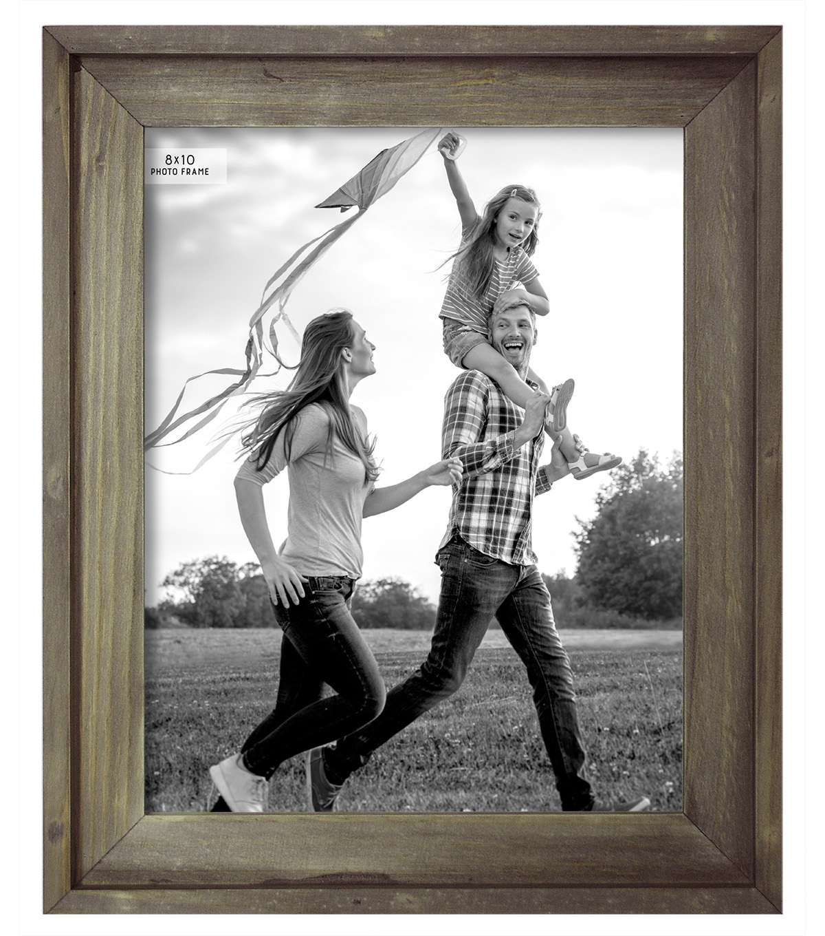 Tabletop Frame 8X10-Plank Stepped Weathered Gray