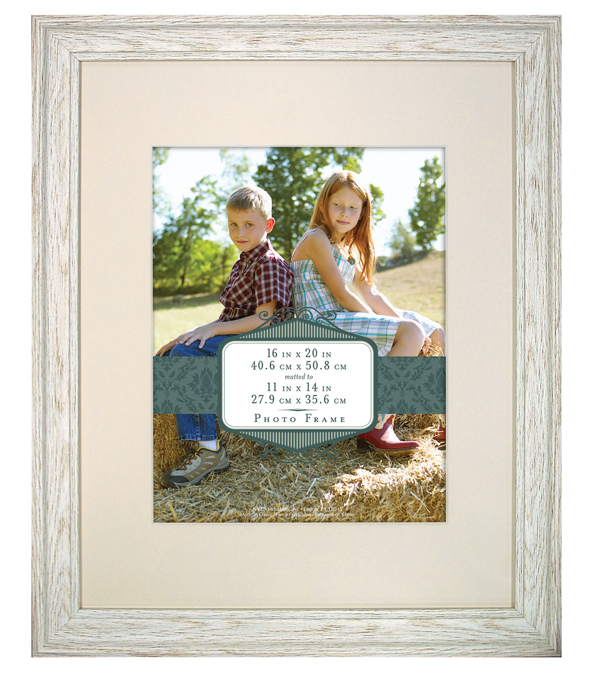 Wall Frame 16X20 To 11X14-Distressed Cream