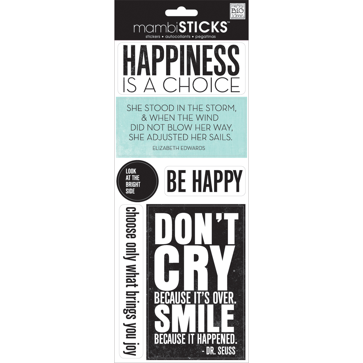 Me & My Big Ideas Sayings Stickers Happiness Is A Choice