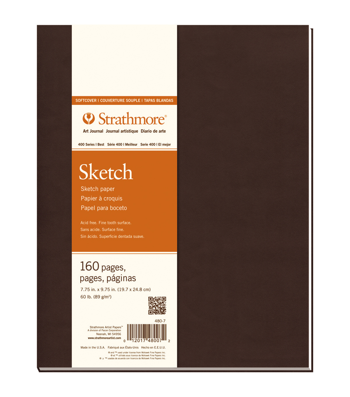 Strathmore Soft Cover Sketch Journal Book With 160 Pages 7.75\u0022x9.75\u0022