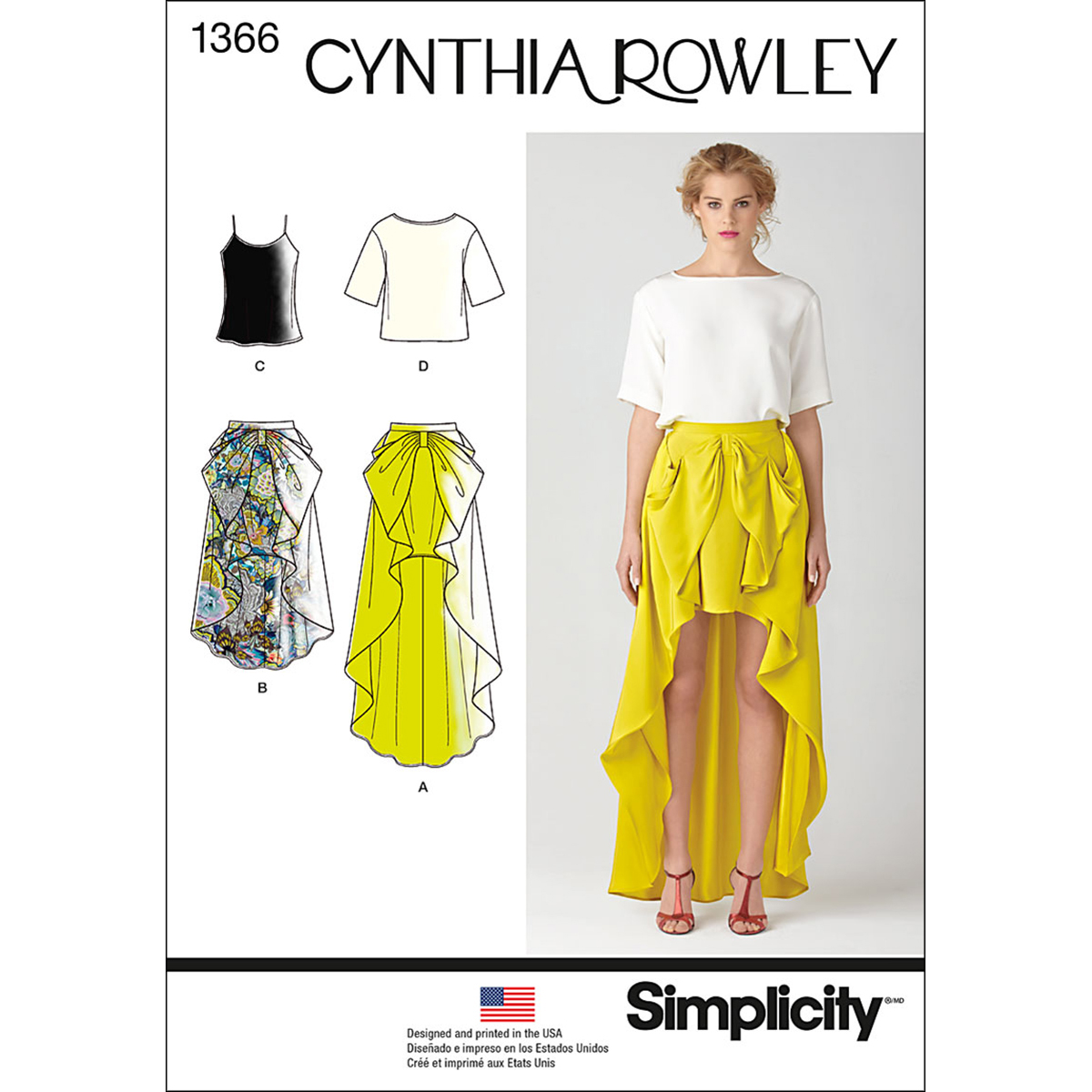 Simplicity Pattern 1366P5 12-14-16-1-Misses Skirts Pants