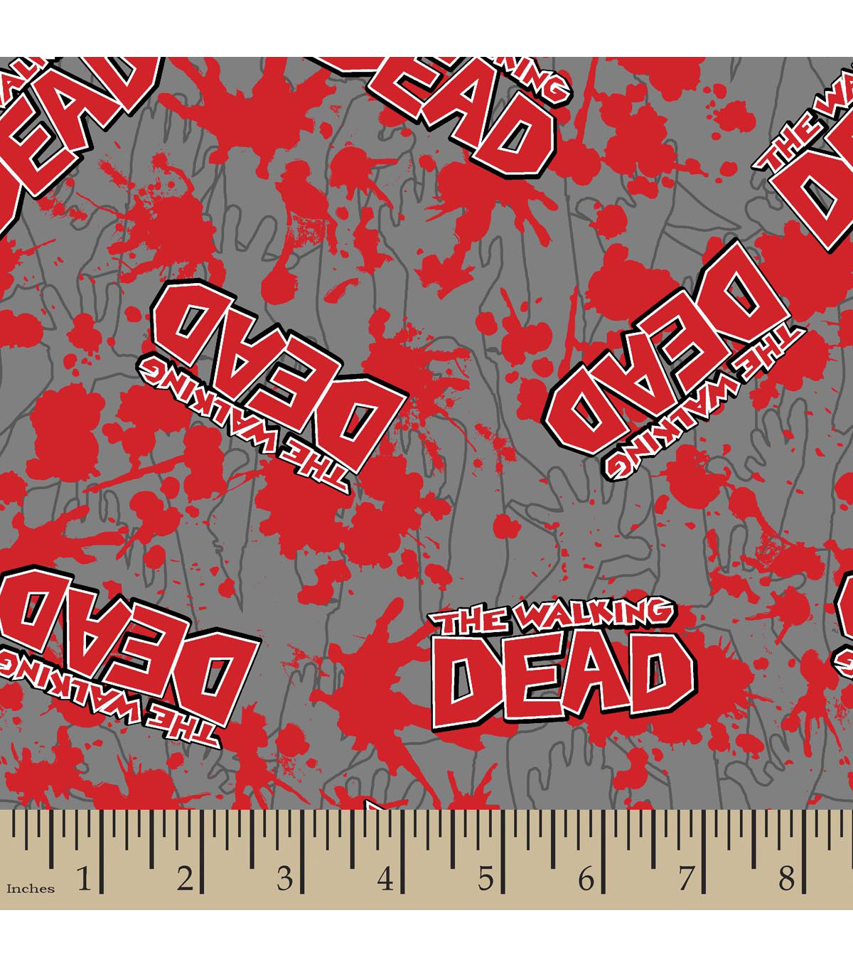 "The Walking Dead Flannel Fabric 42""-Blood Splatter"