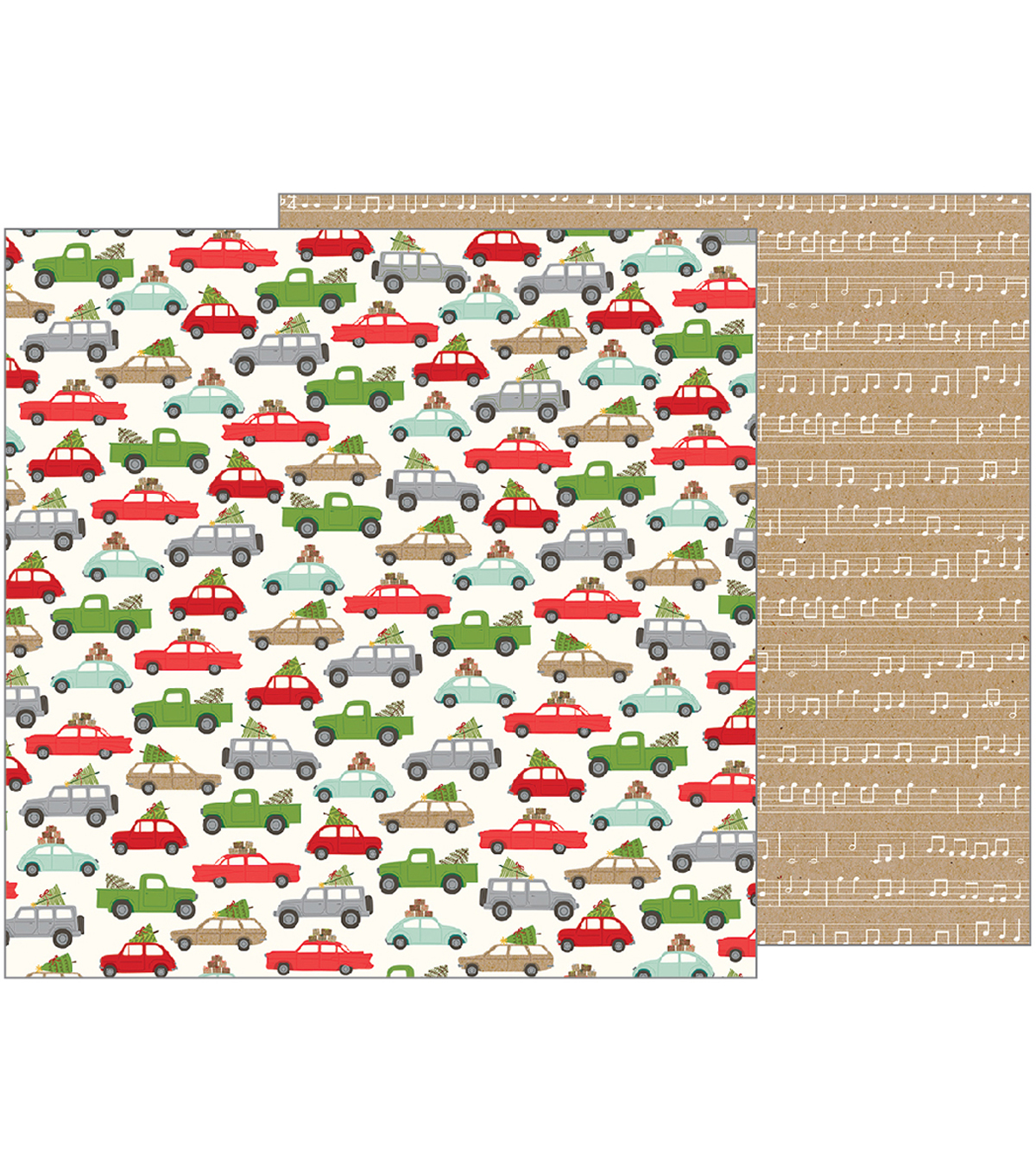 Merry Merry Double-Sided Cardstock 12\u0022X12\u0022-Over The River