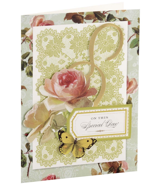 Perfect Anna Griffin Card Kit Anniversary Garden