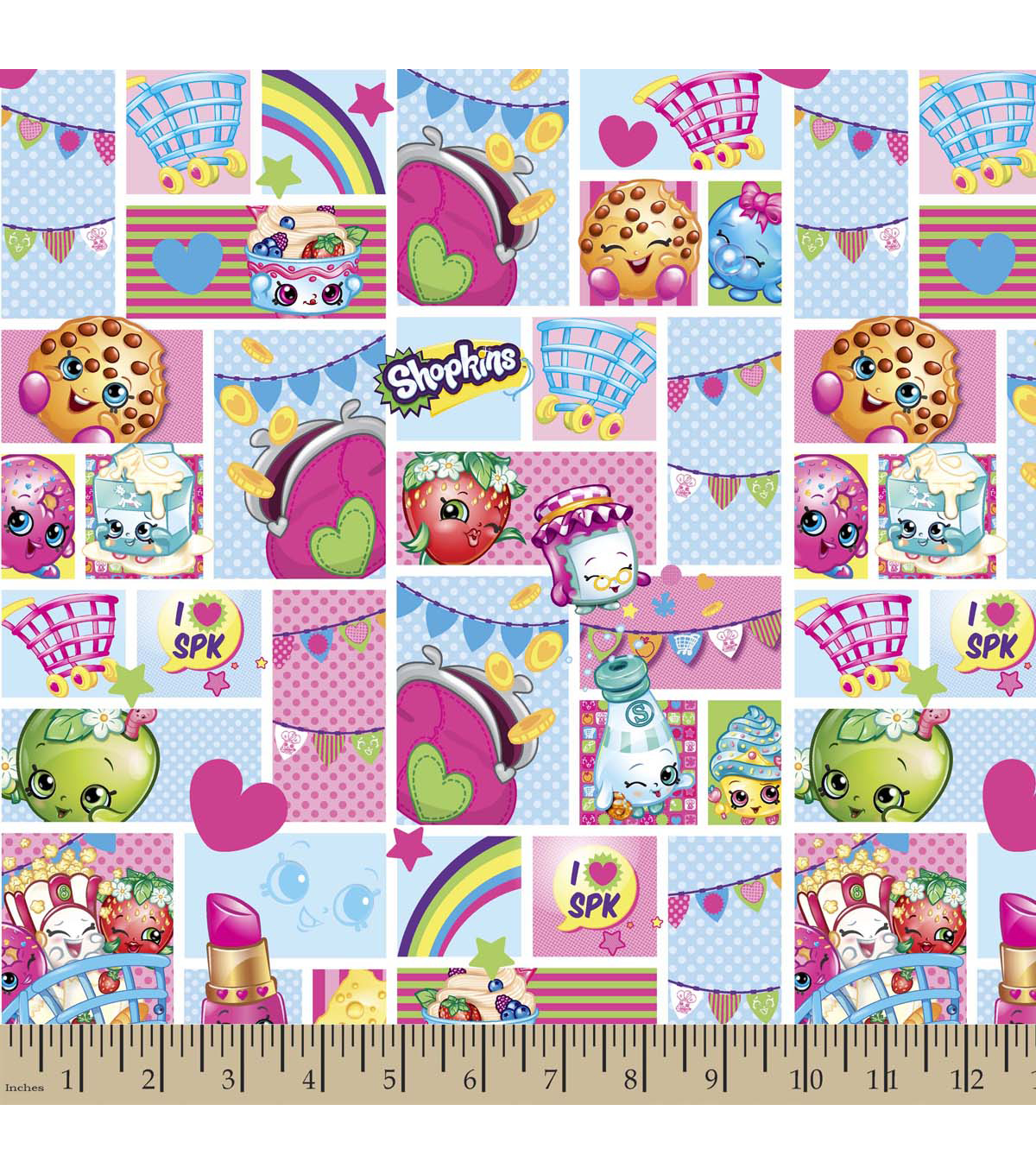 Shopkins Tablecloth Fabric 42\u0022-Patch Party
