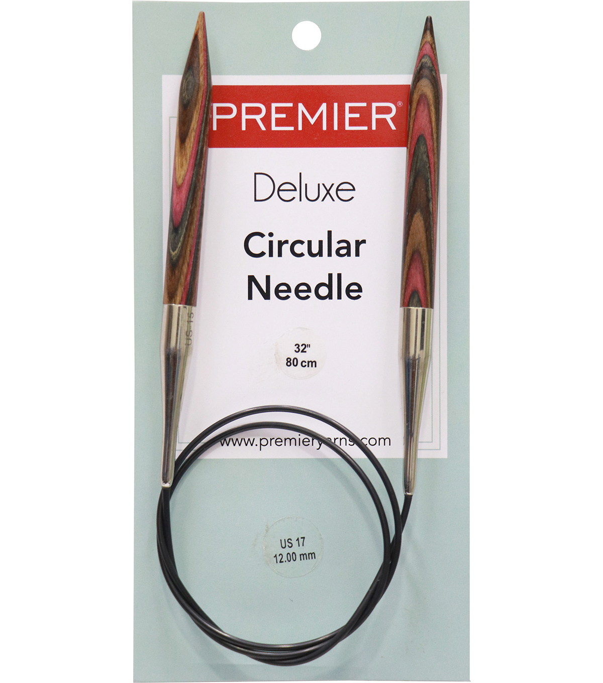 Deborah Norville Fixed Circular Needles 32\u0022 Size 17/12.0mm