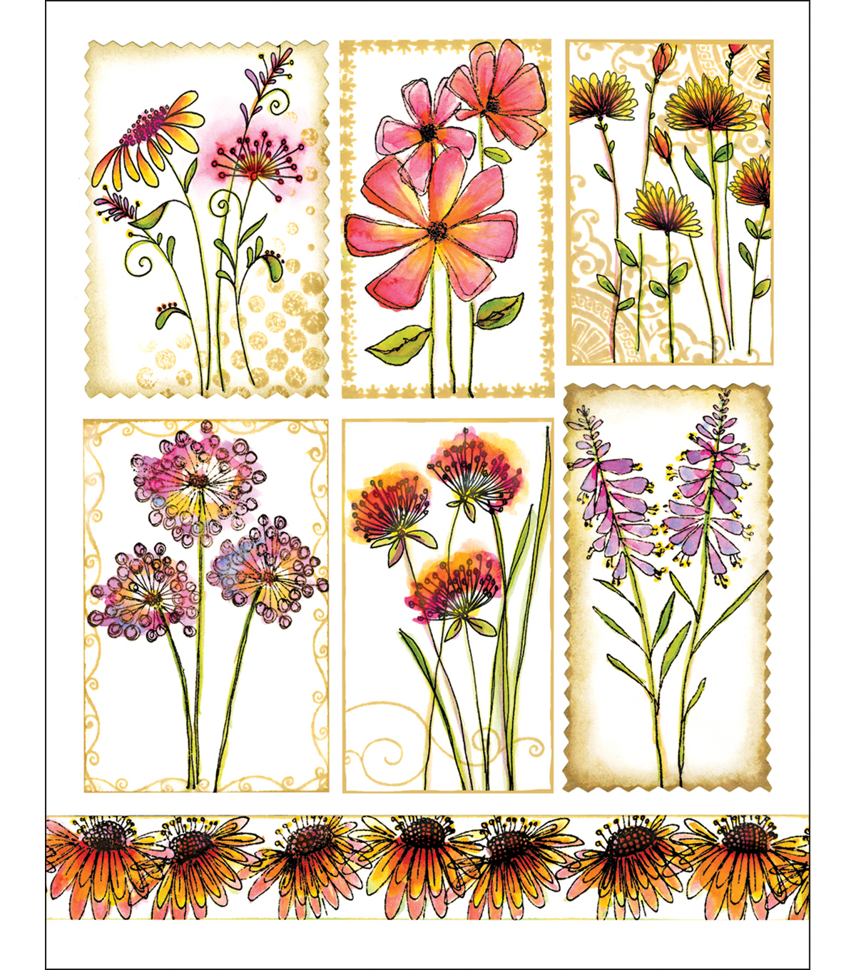 Penny Black Sticker Sheet 7\u0022X9\u0022-Garden Poems