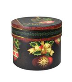 Maker's Holiday Large Round Box-Ornate Ornament