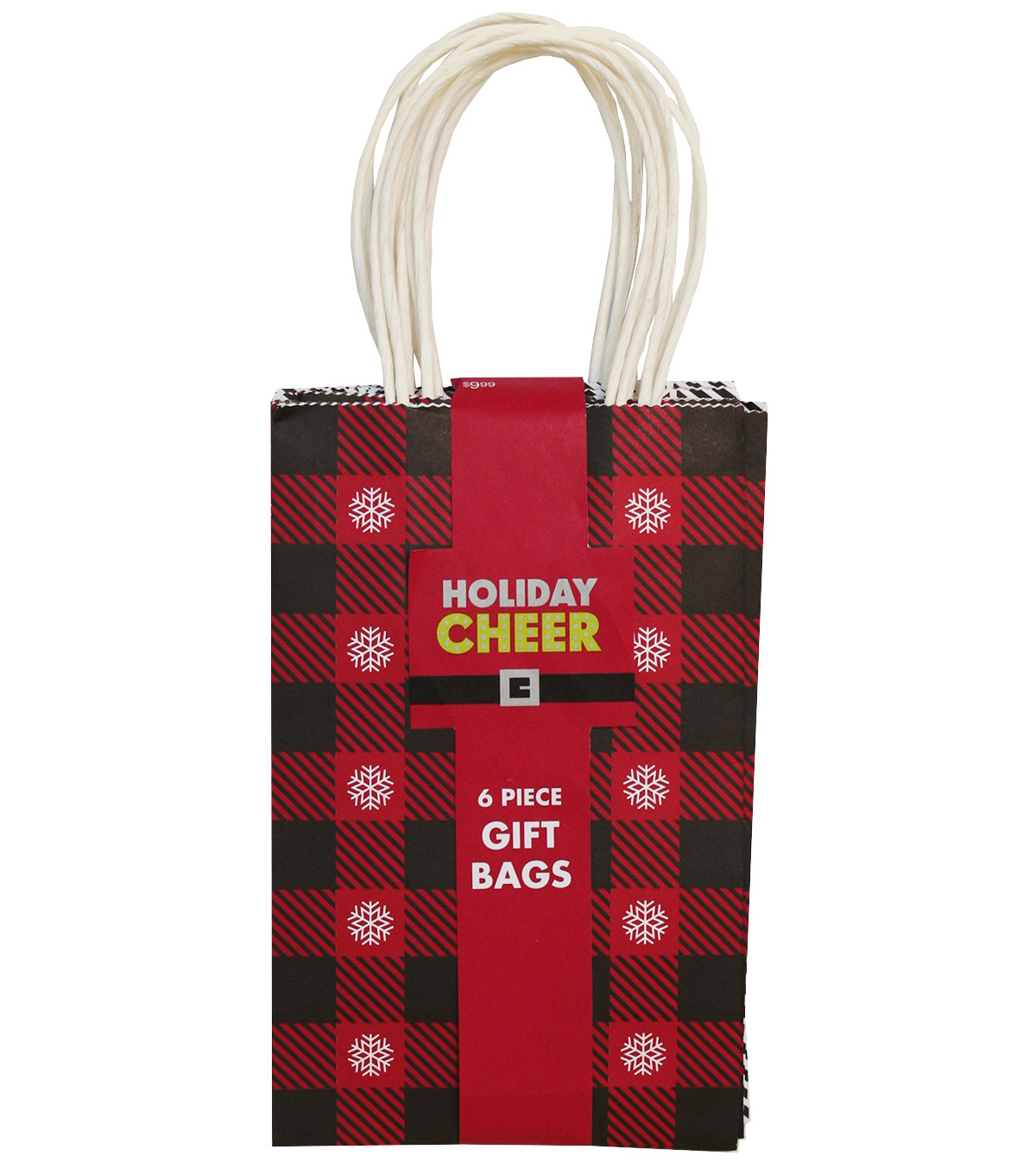 Holiday Cheer 6 Pack Small Bags-Red Patterns