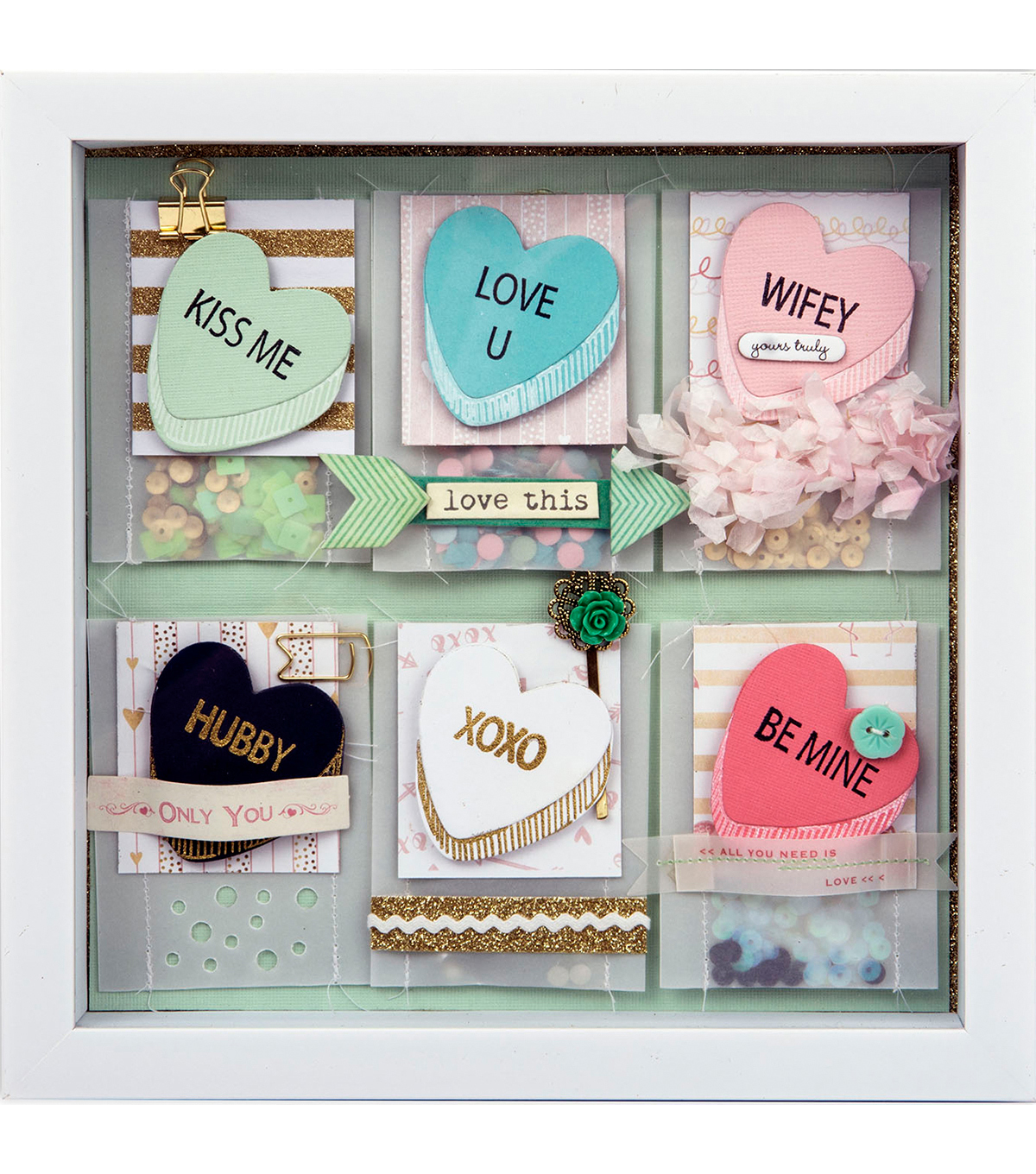 Sizzix® Framelits™ Dies with Stamps -My Valentine