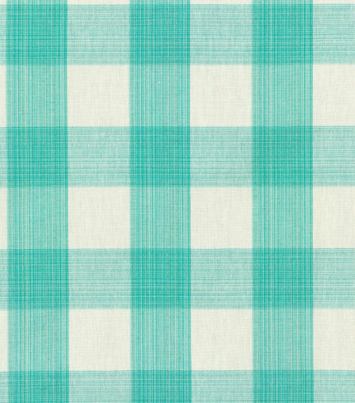 "Williamsburg Upholstery Fabric 54""-Stratford Check/Peacock"