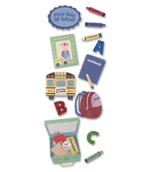 A Touch Of Jolees Dimensional Stickers-Baby/First Day Of School