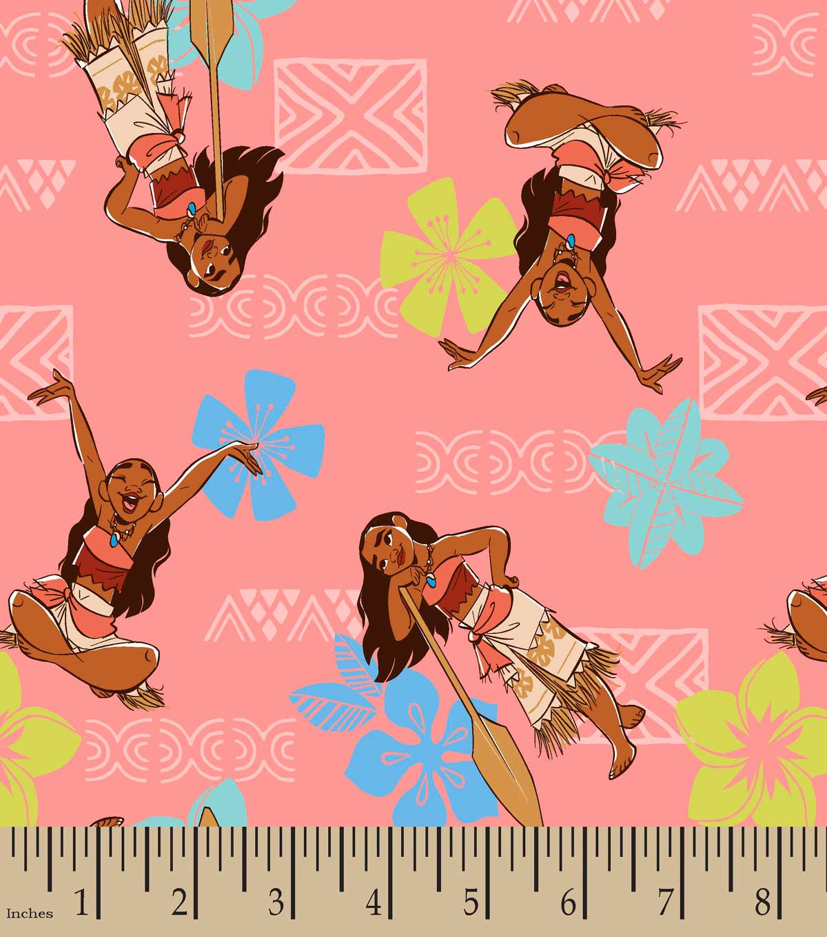 Moana Adventurous Spirit Print Fabric