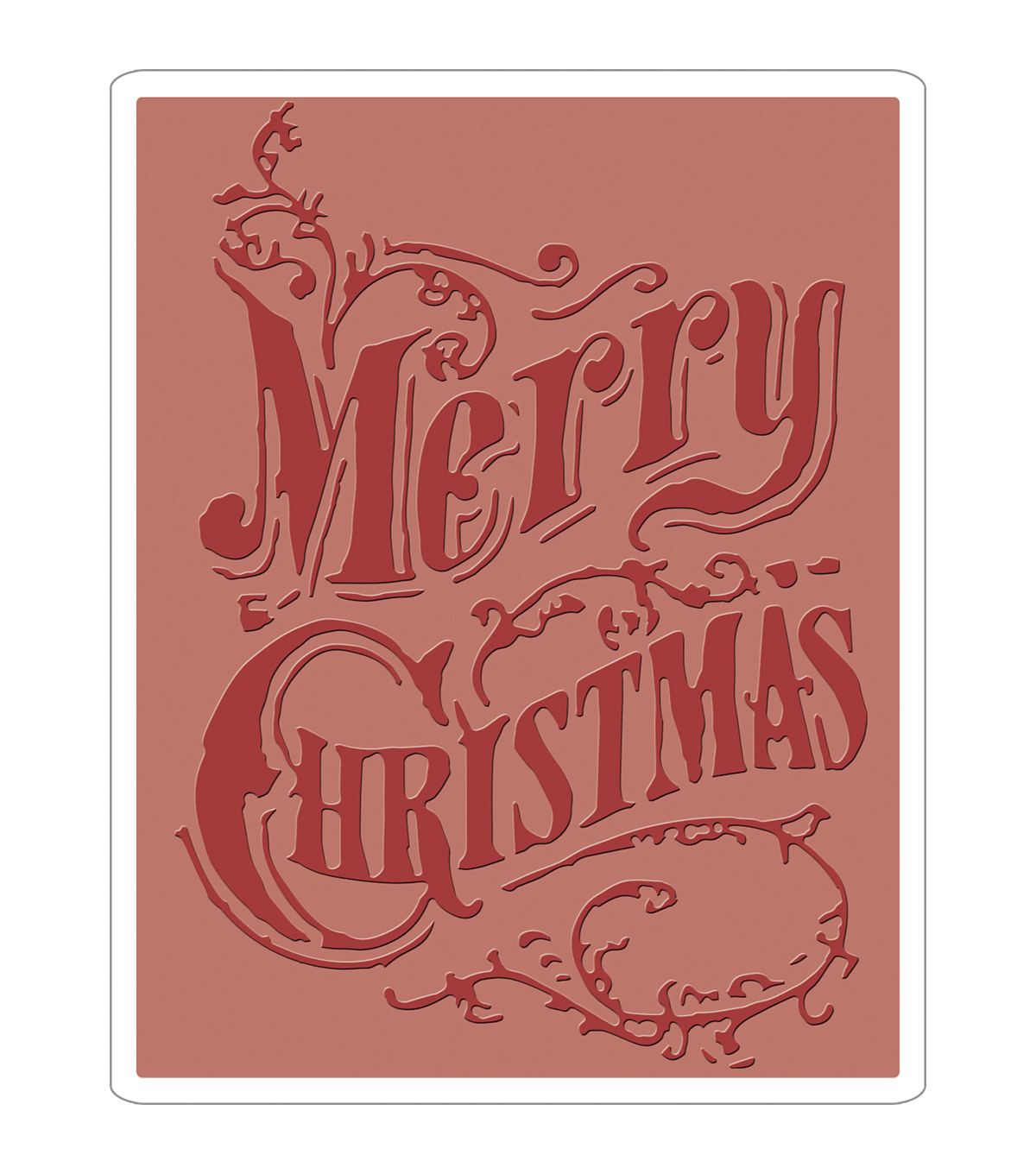 Sizzix® Texture Fades™ A2 Embossing Folder-Christmas Scroll