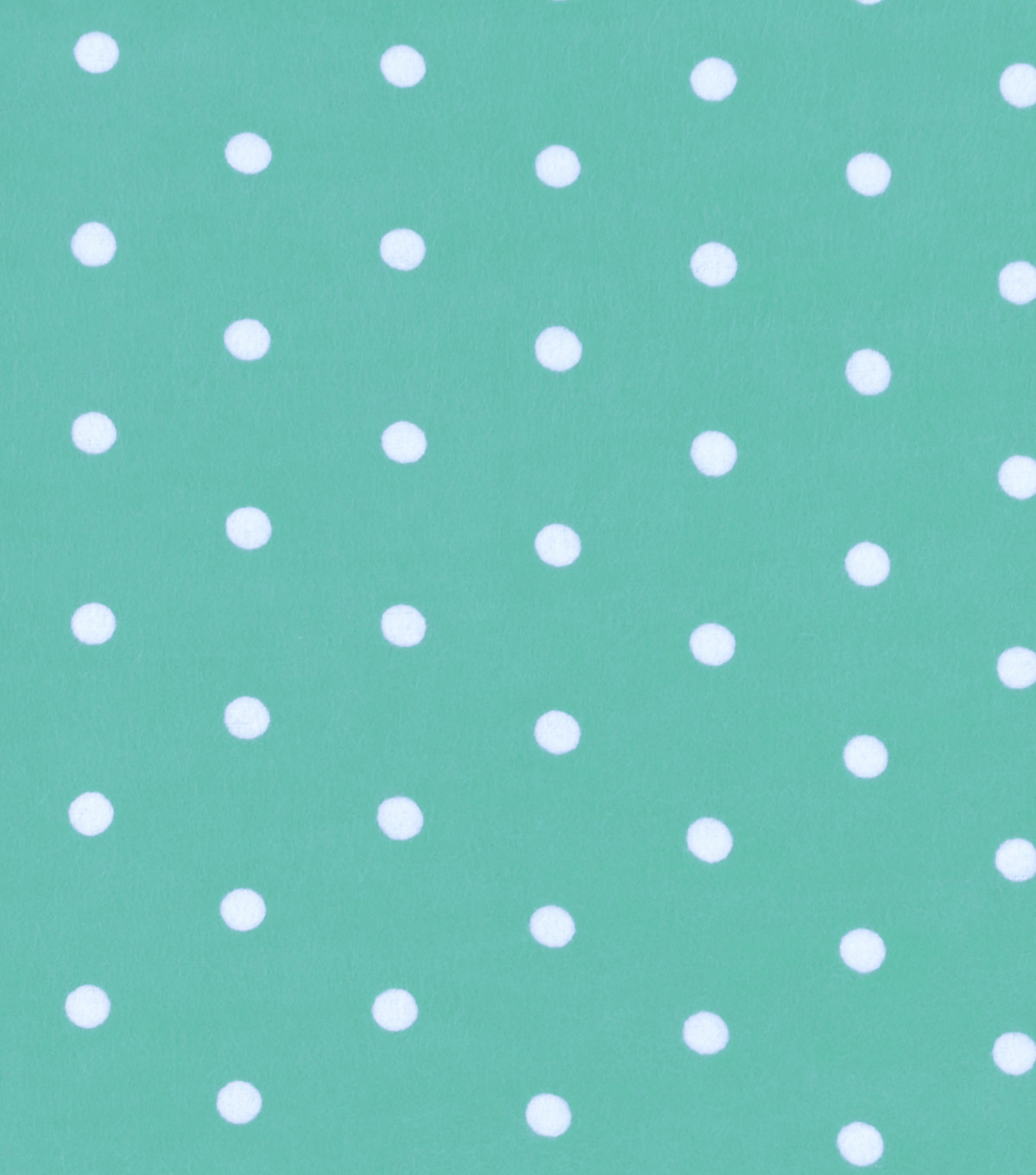 Snuggle Flannel Fabric 42''-Dots on Mint