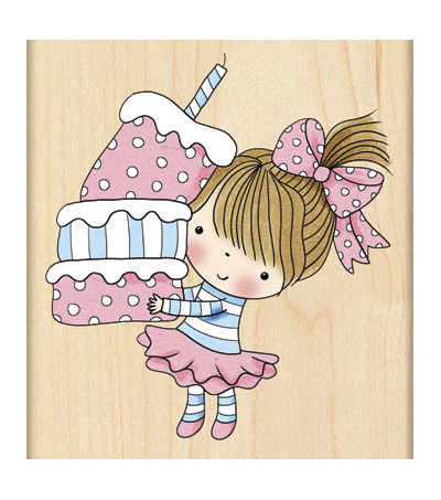 Penny Black Mounted Rubber Stamp-Cupcake Mimi