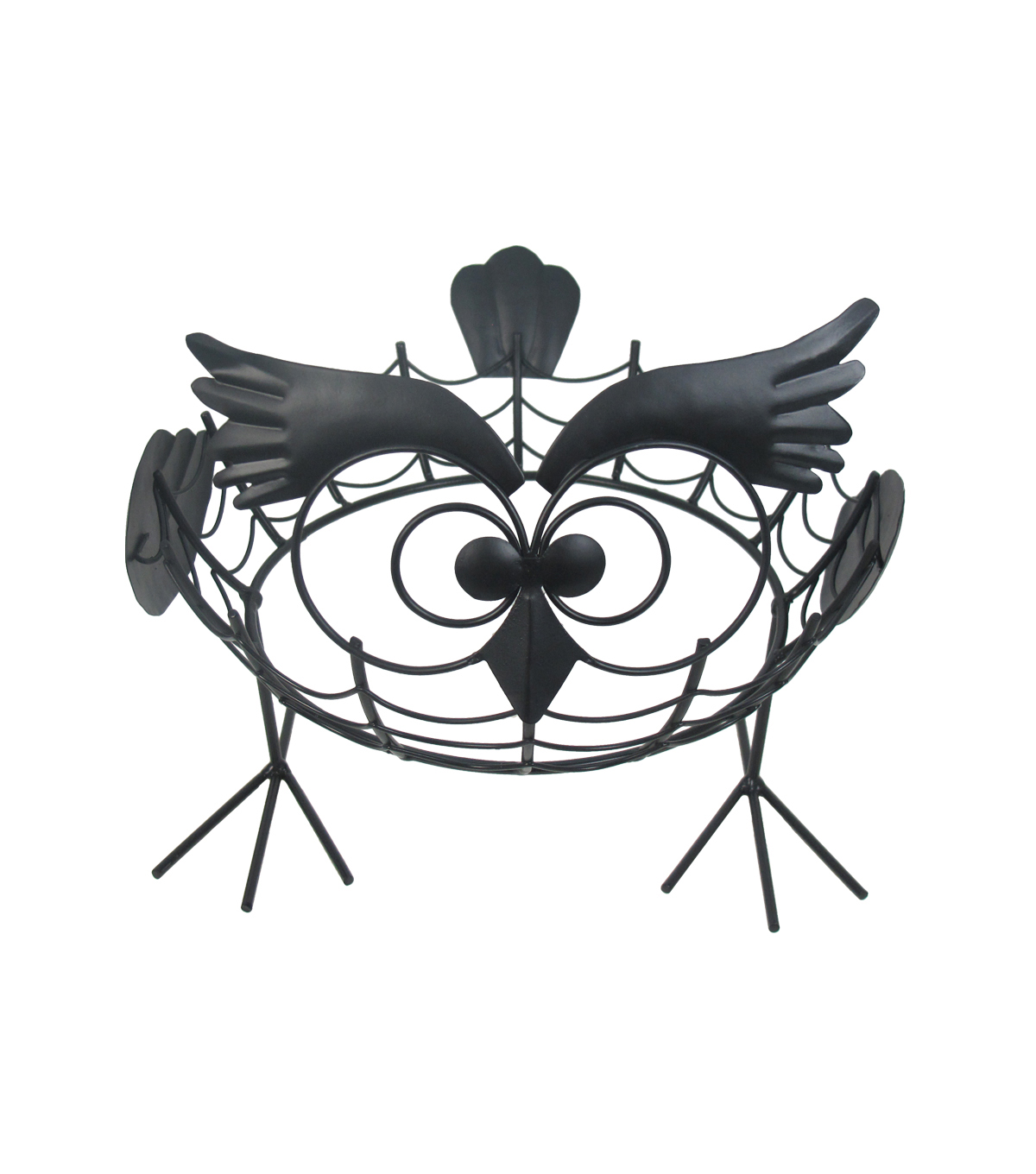 Maker\u0027s Halloween Iron Owl Pumpkin Holder
