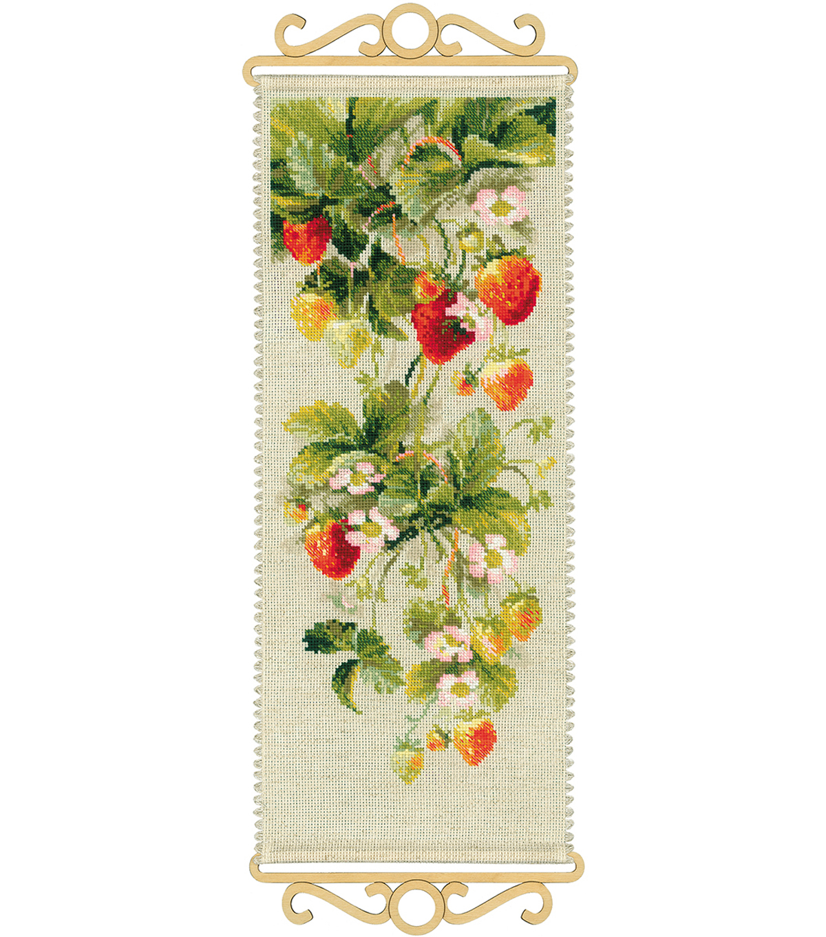 Strawberry Counted Cross Stitch Kit 14 Count