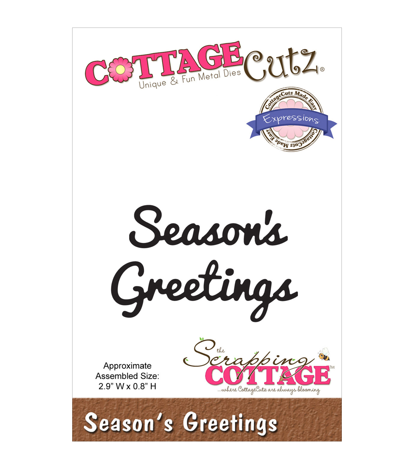 CottageCutz Expressions Season's Greetings Dies